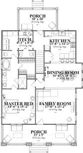 bungalow house plans with garage bedroom single story floor one