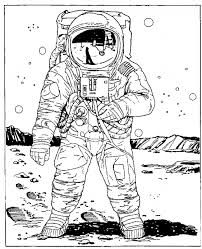 space coloring pages astronaut on the moon owl for astronaut