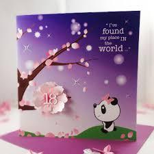 handmade personalised birthday card panda 18th luxury