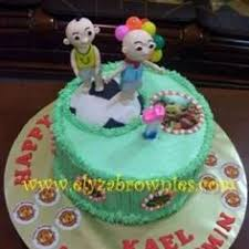 yaya boboiboy themed birthday cake elyza brownies cakes