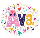 selena female name decorative lettering type design