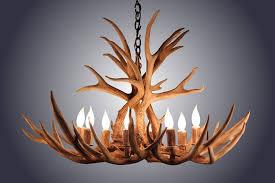 Deer Antler Light Fixtures 8 Light Mule Deer Antler Chandelier Antler Lighting Rustic Sinks