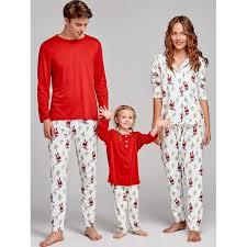wholesale santa claus printed family pajama 2xl