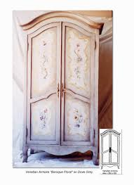 Media Center Armoire Hand Painted Armoires Pieces Furniture