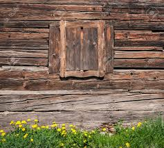 wooden window and textured vintage wood wall stock photo picture