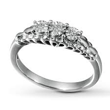 Walmart Wedding Rings Sets For Him And Her by Kay Diamond Promise Ring 1 15 Ct Tw Round Cut Sterling Silver