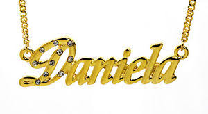 Name Chain Necklace 18k Gold Plated Necklace With Name Daniela Name Chain