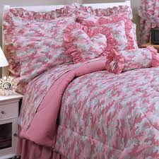 pink camouflage bedding queen home beds decoration