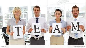 happy business people holding up pages spelling ou stock video