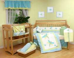 Blue And Brown Crib Bedding by Fancy Girls Bedroom With Pink Theme Also Parquet Flooring And Pink