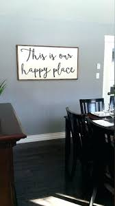 home decor wall signs home decor wall signs custom this is our happy place wooden sign