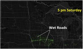 Iowa Road Conditions Map Typical For Early May Record Warmth Today Sunday Puddles