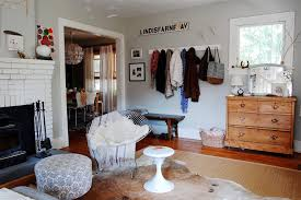 coat rack bench living room eclectic with animal rug bench black