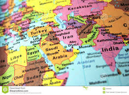 Middle East Political Map by Map Stock Photos Images U0026 Pictures 131 564 Images
