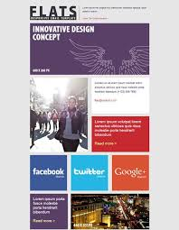 best newsletter design 20 best flat style responsive email templates newsletter design