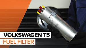 how to replace fuel filter on volkswagen t5 tutorial autodoc