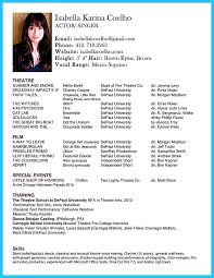 Child Modeling Resume Sample by Acting Resume Template For Microsoft Word Theatre Acting Resume