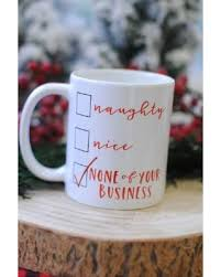 slash prices on naughty or nice christmas santa coffee mug gifts