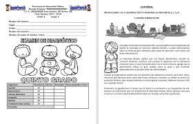 examen montenegro 3 grado primaria examen de diagnóstico del quinto grado del ciclo escolar 2017 2018