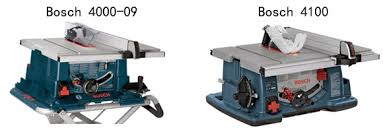 bosch 4100 09 10 inch table saw bosch 4000 table saw vs 4100 review