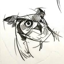 owl sketches tattoo