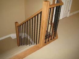 wrought iron stair spindles with simplistic stair parts railing 1