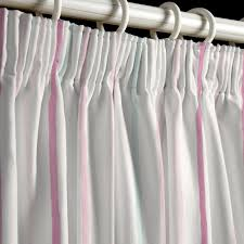 Pink And Grey Curtains Painterly Stripe Pink Curtains