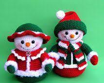 25 free crochet ornament patterns snowman