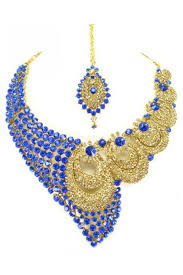 stone set necklace images Designer stone necklace set 69174 jpg