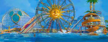 Map Of California Adventure Paradise Pier Disney California Adventure Pre Remodel