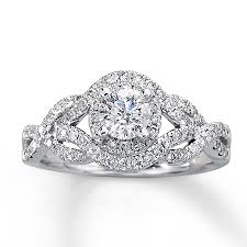 diamond weddings rings images Jared diamond engagement ring 1 ct tw round cut 14k white gold jpg