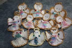 Christmas Angel Decorations Patterns by Knit Christmas Angel Ornament Allfreeknitting Com