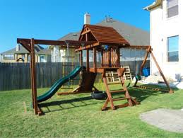 Kids Backyard Swing Set Playset Swingset And Playground Assembly Installations In The