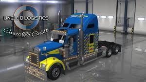 kenworth w900 engine uncle d logistics goodyear racing kenworth w900 skin american