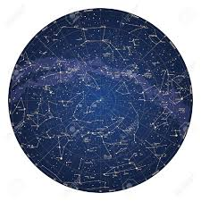 Sky Maps High Detailed Sky Map Of Northern Hemisphere With Names Of Stars