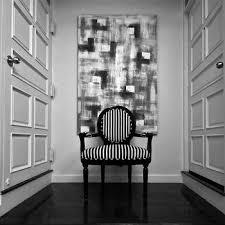 Striped Slipper Chair Black And White Striped Slipper Chair