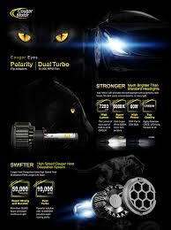 lexus rx300 ac light blinking amazon com cougarmotor h1 led headlight bulbs all in one