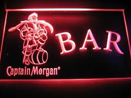 captain morgan neon bar light captain morgan open bar logo sign neon beer bar cocktail