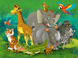 safari cartoon cartoon baby shower jungle safari animal zoo elephant backdrop vinyl