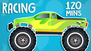 monster truck race videos monster truck racing car wash learn numbers animated videos