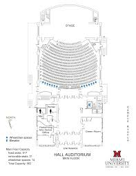 Floor Plan Of Auditorium by Visit Us Performing Arts Series Cca Miami University