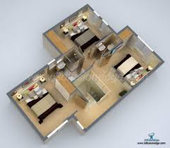 3d floor plan rendering small house 3d floor plan rendering artconnect