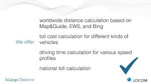 Calculate Tolls Google Maps Xcargo Distance Calculation Calculate Directly In Excel Youtube