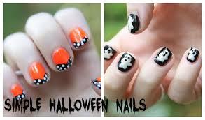 nail art easy halloween nail art step by youtube maxresdefault