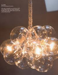 Diy Glass Bubble Chandelier This Cluster Chandelier Was Created As A Diy Light From Shelf