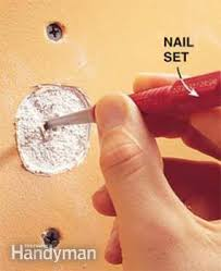 how to fix popped drywall nails and screws family handyman