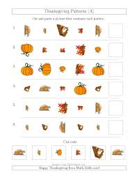 thanksgiving picture patterns with shape size and rotation