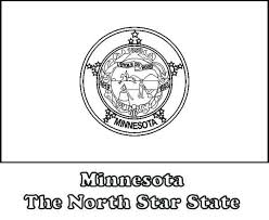 state flag of minnesota coloring page color luna