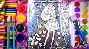 coloring barbie in a pretty dress coloring pages for kids to learn