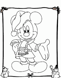 mickey mouse christmas coloring page coloring home